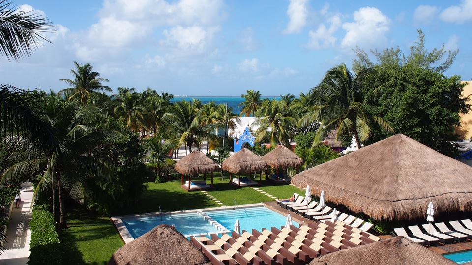 Resort view from our room at Privilege Aluxes Isla Mujeres