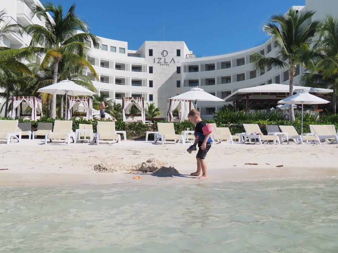 Beachfront at the Izla Hotel in Isla Mujeres, Mexico