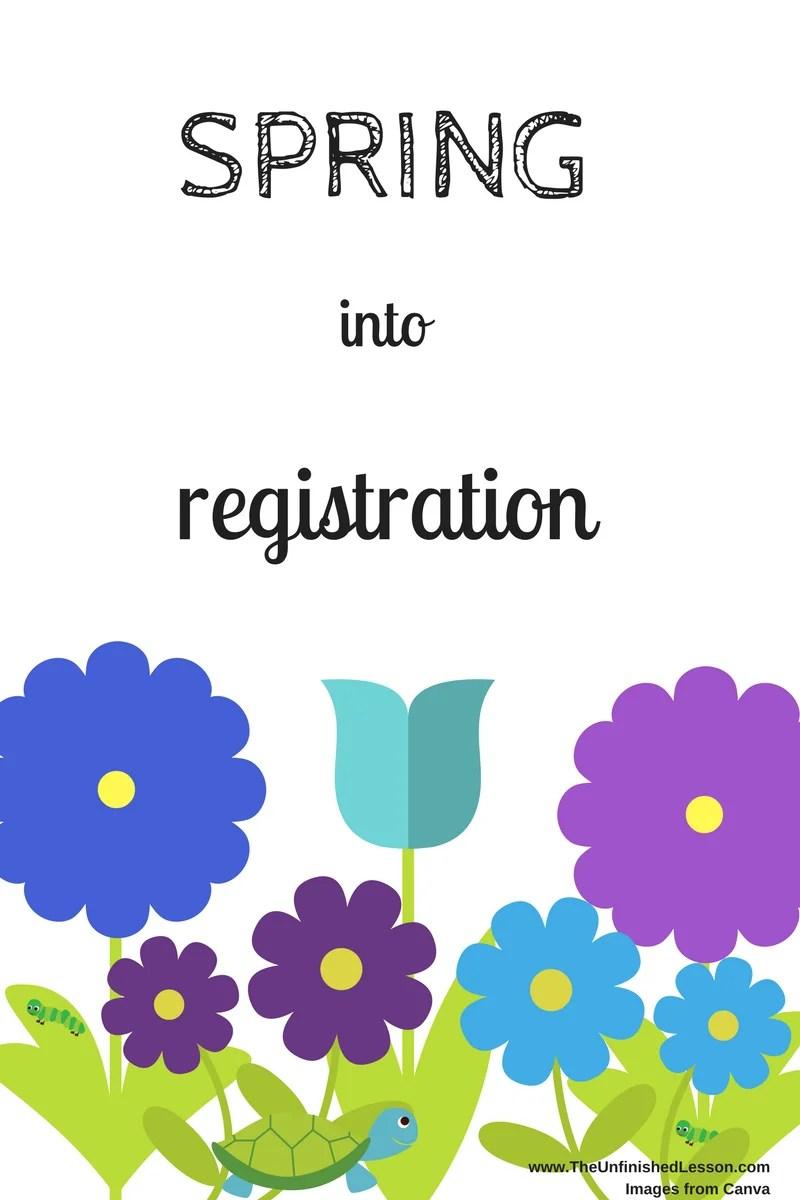 Spring into registration