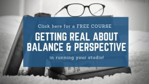 Getting balance in your studio (course)