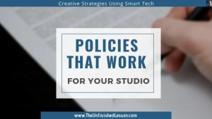 Click here to make your best studio policies.