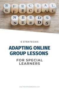 Adapting Online Group for Special Learners