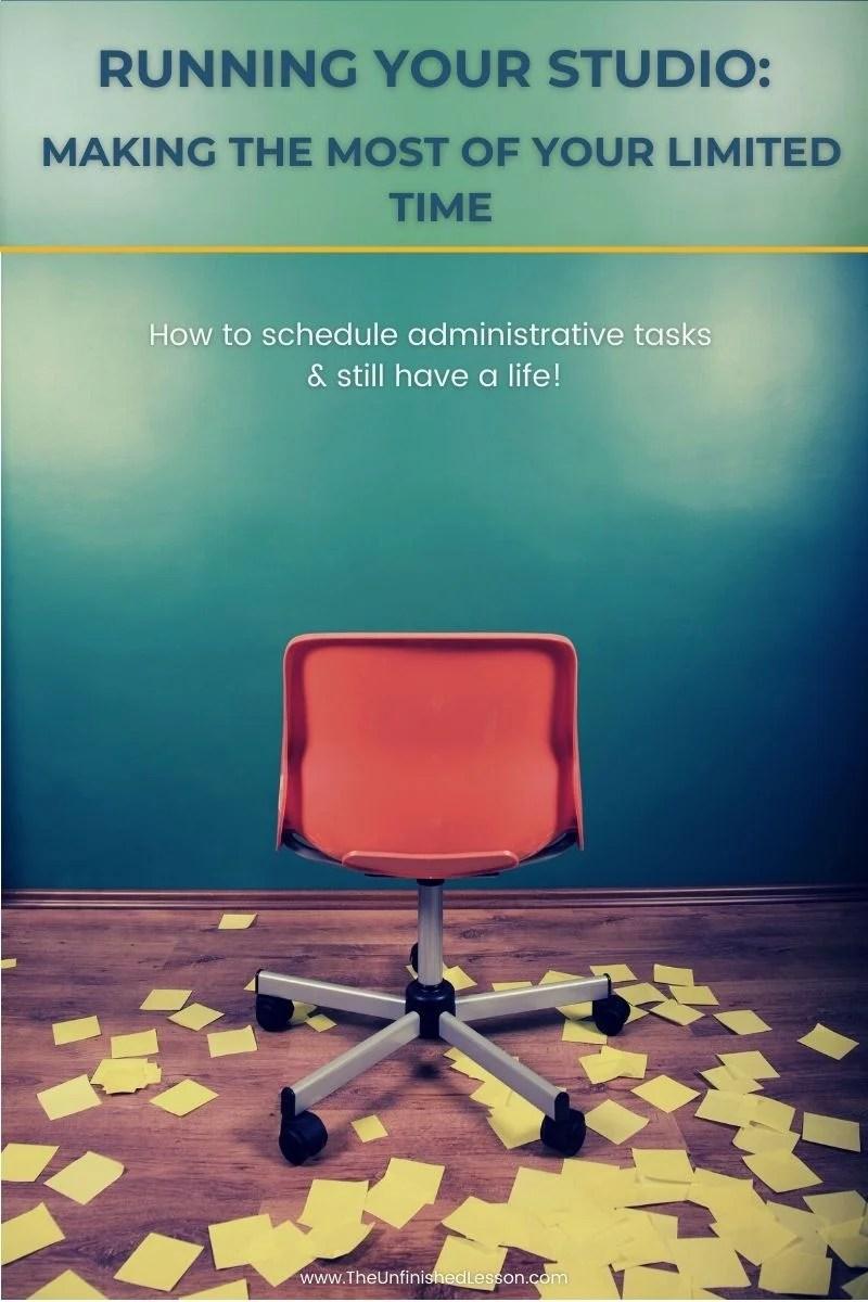 Running Your Studio (Schedule Administrative Tasks)