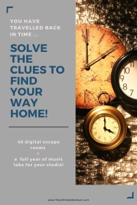Travel Through Time Music History Escape Room