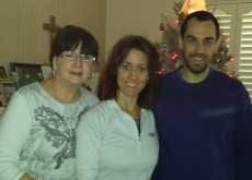 Christmas 2013- Mom, Gina & Paul (Dad is taking the photo...)