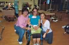 2009- Last day at Rehabilitation Hospital; they got me walking again!!!