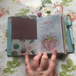 Monthly Journal insert I made for myself for the month of April.