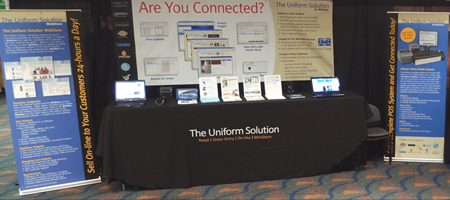 The Uniform Solution booth at the URA