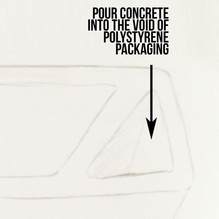 DIY concrete doorstop instructions
