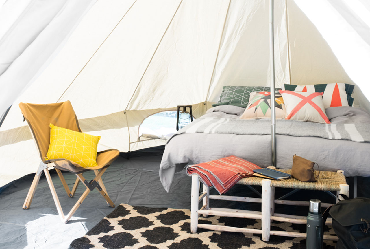 Homecamp glamping hipster camping canvas bell tent
