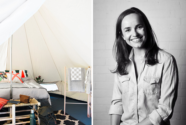 Stephanie Francis Director of Homecamp glamping hipster camping outdoor gear melbourne