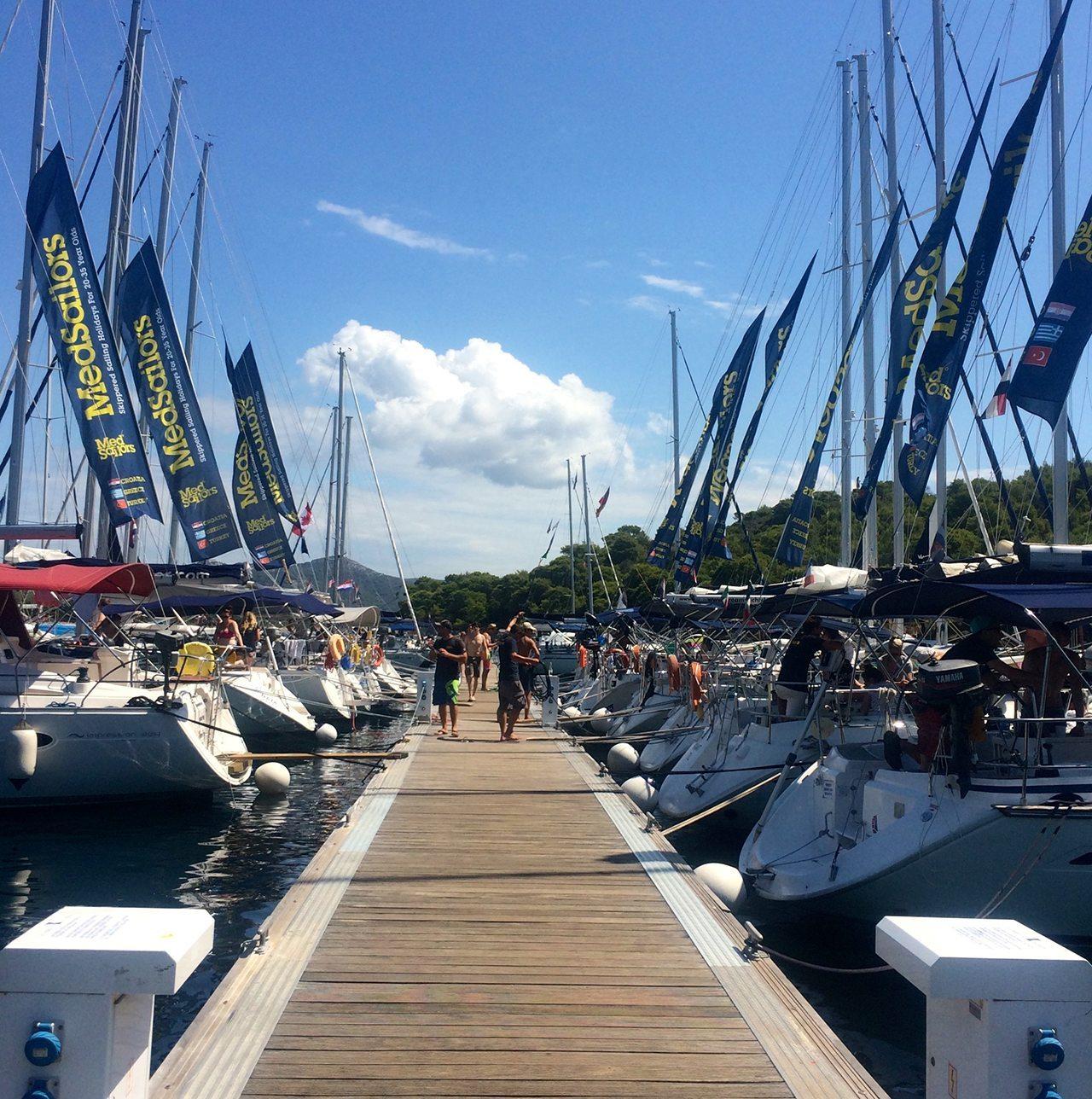 MedSailors Hvar Boats Docked Croatia