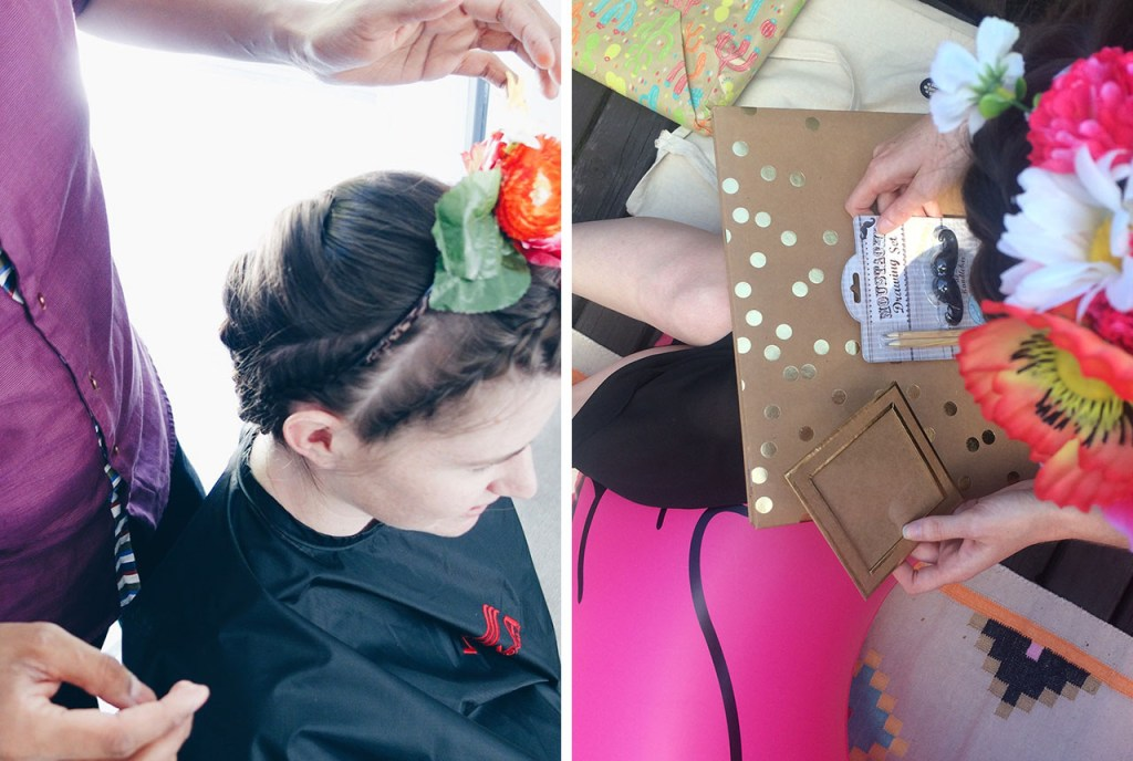 Mexican Themed Hens Night Frida Kahlo Make Up Flower Crown Goodie Bags