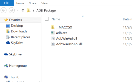 ADB Package Extracted
