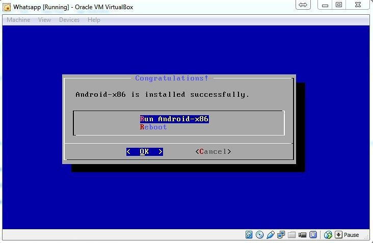 VM-Runscreen