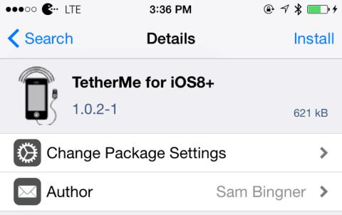 Install TetherMe