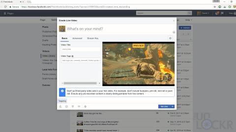 Preview Facebook Live Stream