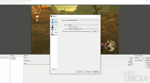 Select Twitch in OBS