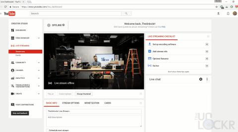 YouTube Live Streaming Dashboard