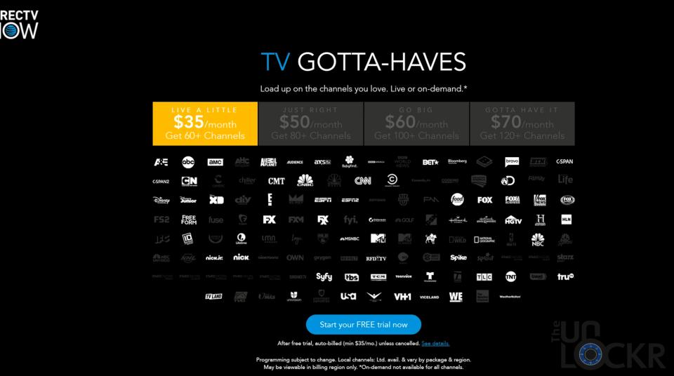 DirecTV Plans