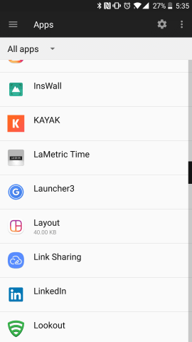Launcher3 in Apps
