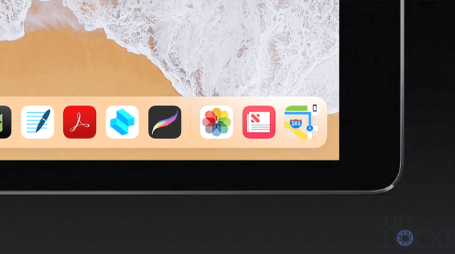 iOS 11 iPad Dock