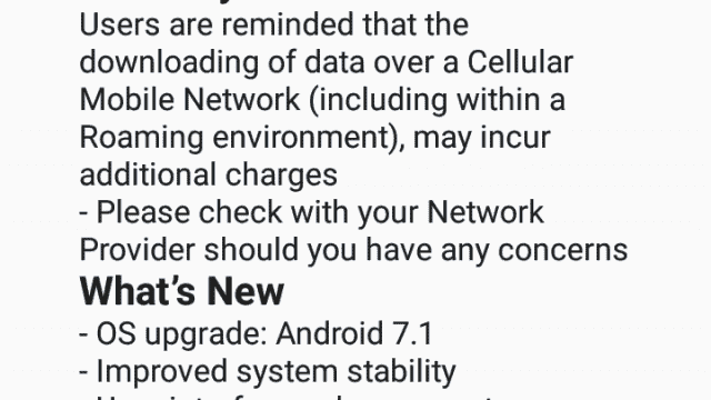 Android 7.1.1 Nougat Official Update