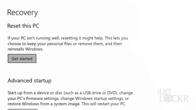 Resetting Windows