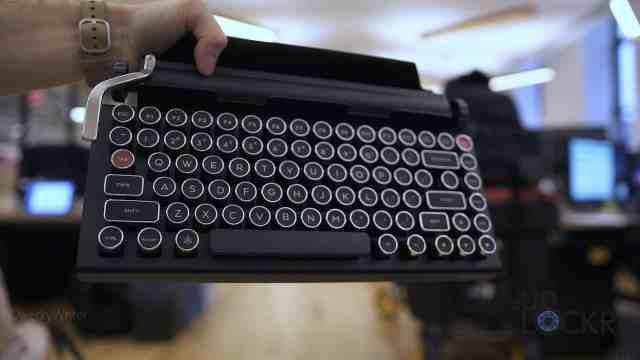 Holding Keyboard