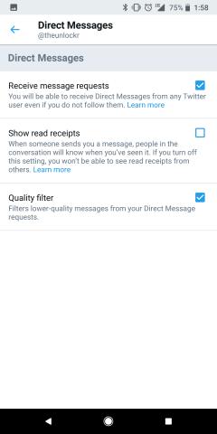 Turn off Read Receipts