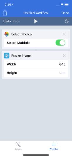Drag Resize Image to Workflow