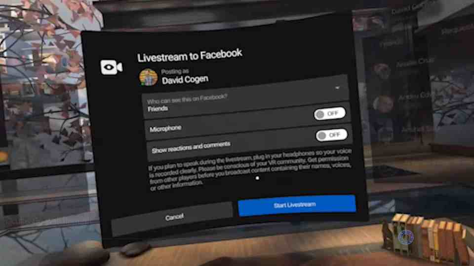 Oculus Go Live Streaming