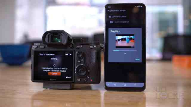 Sony A7III Transfer Proxy to Phone