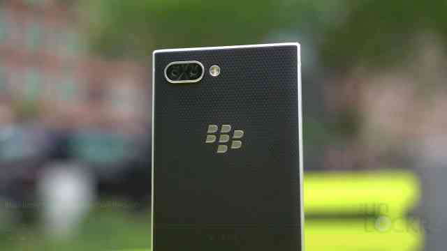 Back of BlackBerry Key2