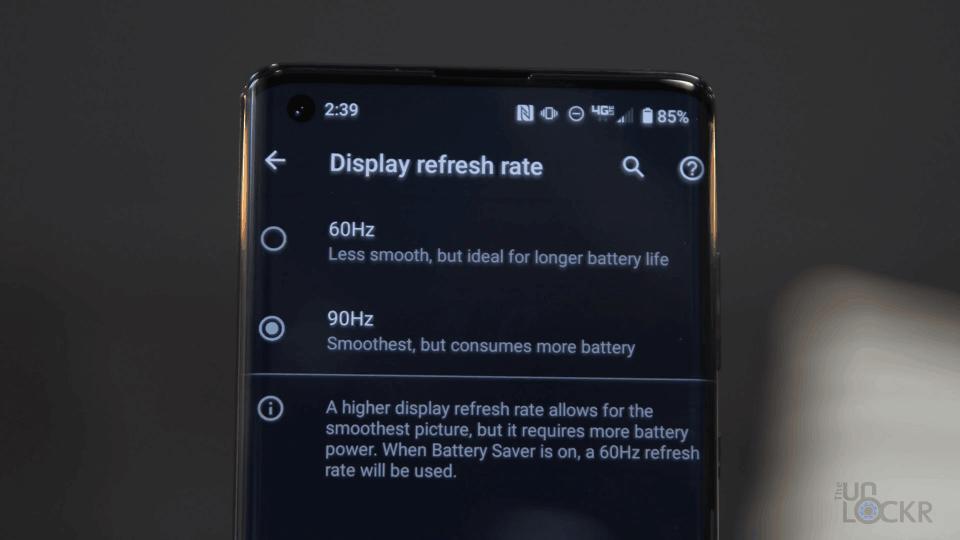 90 Hz Panel