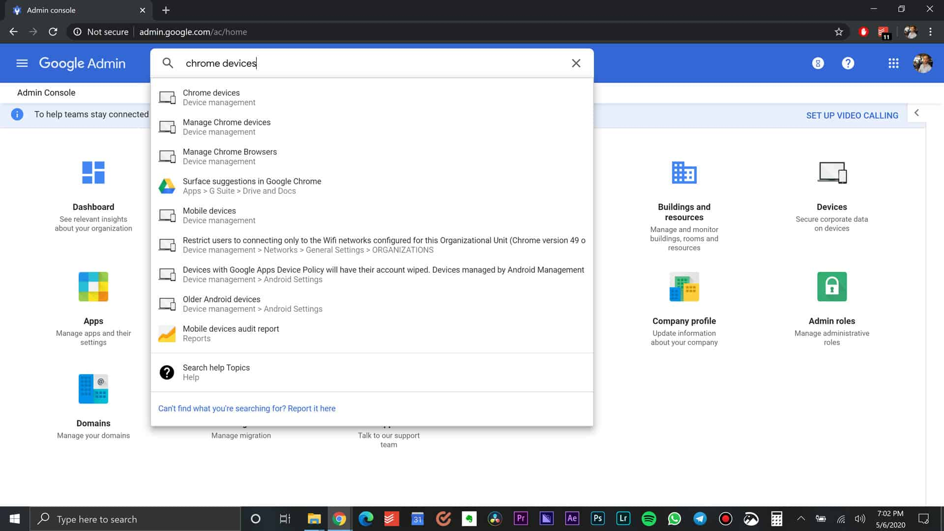 Search for Chrome Devices