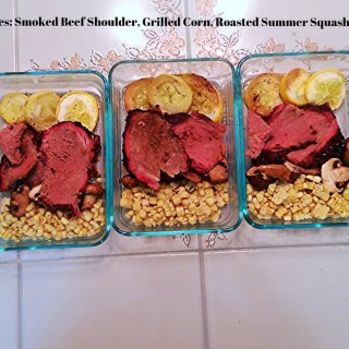 5 Days 5 Lunches: Smoked Beef Shoulder, Grilled Corn, Roasted Summer Squash & Mushrooms