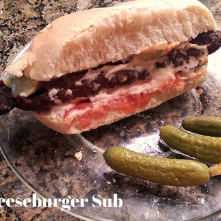 Freezer Lunch Cheeseburger Sub: But that's not a bun!