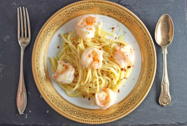 Shrimp and pasta 2