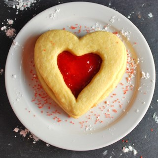 Strawberry Heart Cookie