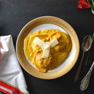 Ravioli with Butternut Squash Cream Sauce