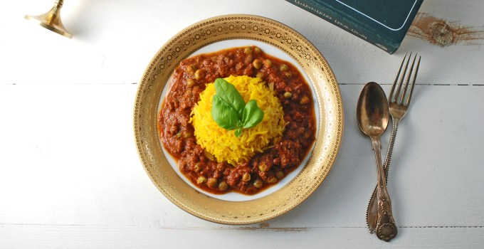 Keema Mutter – Ground Lamb with Peas & Tomatoes