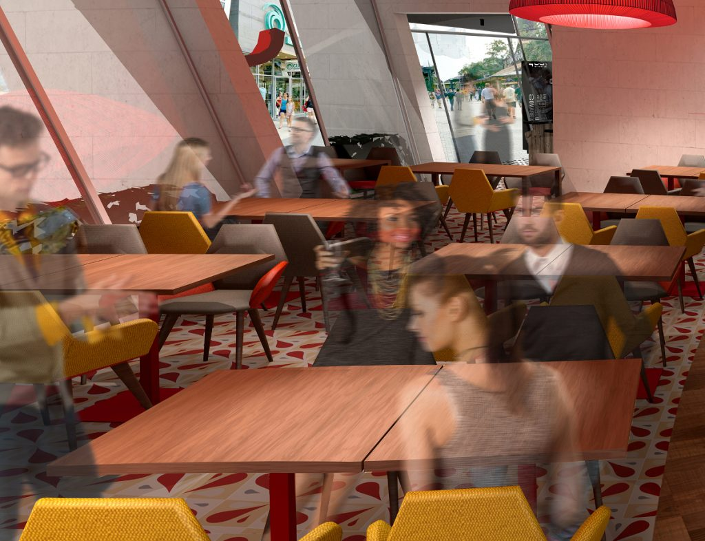 Jaleo Disney Springs dining room rendering.