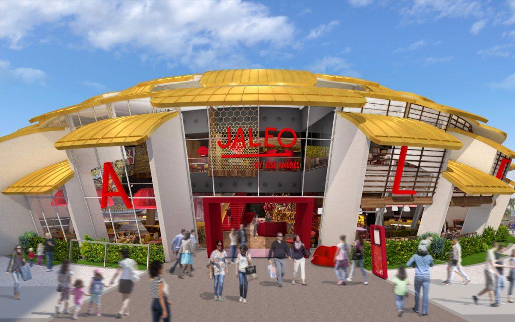 Jaleo restaurant design exterior rendering