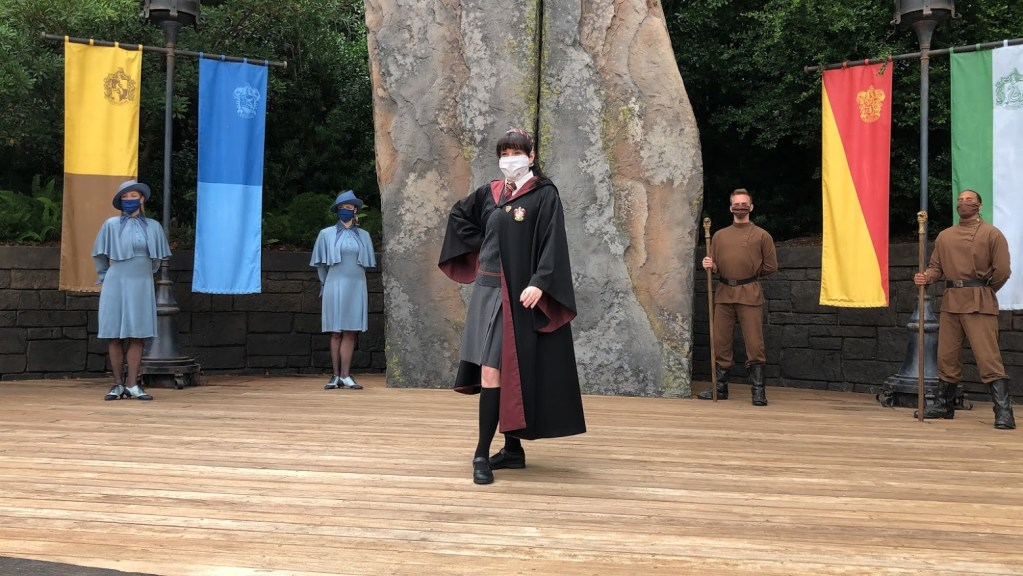 Universal Orlando Theme Parks Reopened triwizard spirit rally show