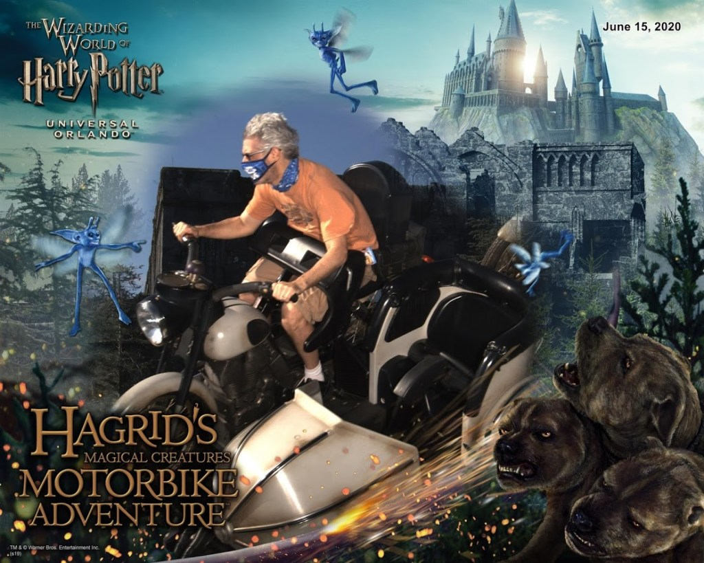 Socially Distanced Universal Orlando theme park rides Hagrid's Magical Creatures Motorbike Adventure