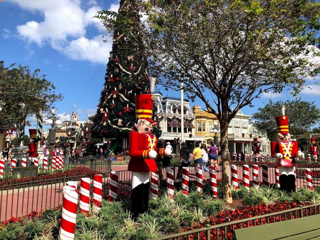Magic Kingdom Christmas 2020 Main Street USA decorations