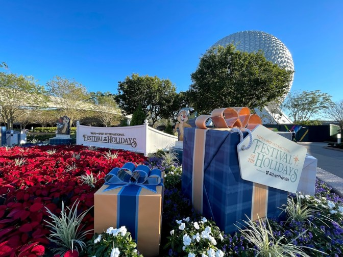 Epcot 2020 Festival of the Holidays park entrance