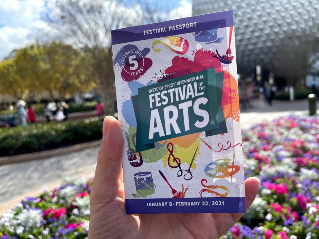 2021 Taste of Epcot International Festival of the Arts passport