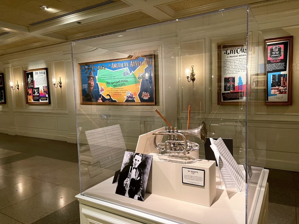 The Soul of Jazz: An American Adventure exhibit interior at Epcot